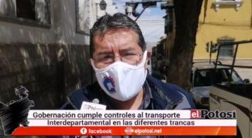 Gobernación realiza controles a buses, advierten sanciones si violan las normas