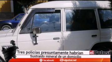 Investigan presunto robo de mineral, hay tres policías aprehendidos