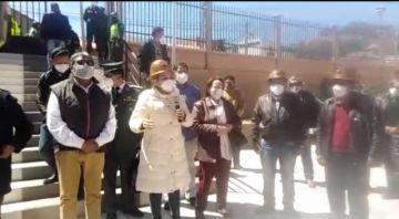 La presidenta agradece a los mineros su lucha para recuperar la democracia