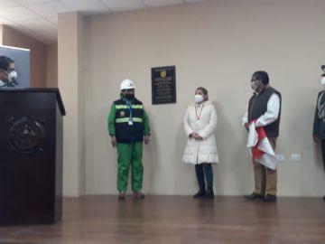 Jeanine Áñez inauguró la Dirección Nacional de Prospección y exploración minera