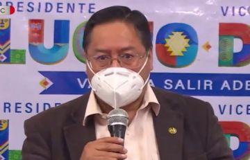 Luis Arce acepta debatir pero con todos los candidatos, no con una sola persona