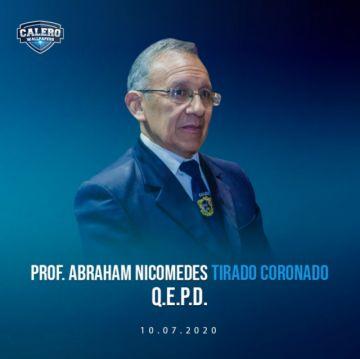 Homenaje al maestro Abraham Tirado Coronado