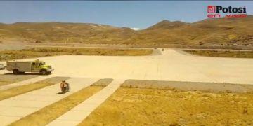 Realizan la inspección a las obras del aeropuerto para Potosí
