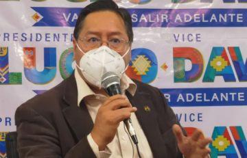 MAS reitera condiciones de no insultos para que Arce asista al mega-debate