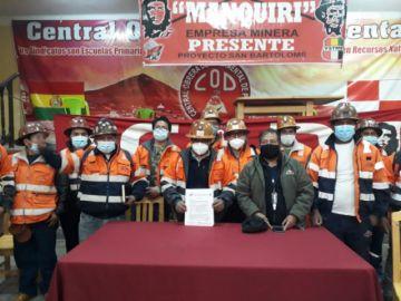 Trabajadores de Manquiri afirman que no operan arriba de la cota 4.400