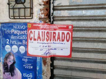 La Intendencia Municipal clausura tiendas infractoras