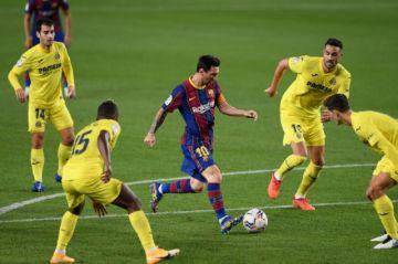 El Barcelona golea al Villarreal en una fiesta de Ansu Fati y Messi