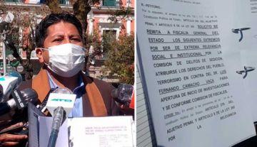 """FPV denuncia a Camacho acusándolo de """"golpe de Estado"""" contra Evo Morales"""