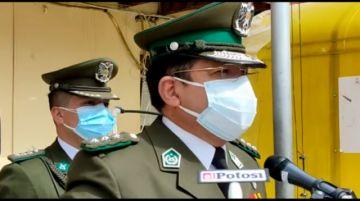 Así se presenta el nuevo comandante de la Policía en Potosí Juan Luis Cuevas Guagama