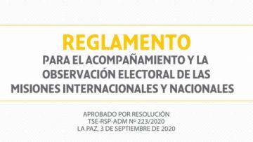 TSE aprueba el Reglamento para Misiones de acompañamiento y observación del proceso electoral