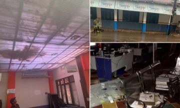 Tormenta destroza oficinas del Segip en trinidad, suspenden atención