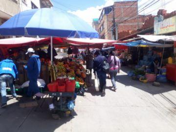 Hay flexibilización, pero se incrementan las aglomeraciones en el Mercado Uyuni