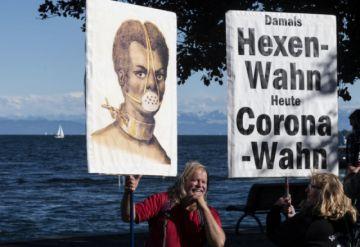 """Los """"anti-mascarillas"""" protestan contra las restricciones en Alemania"""