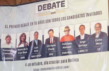 El debate de esta noche será sin Arce, Camacho ni Mesa
