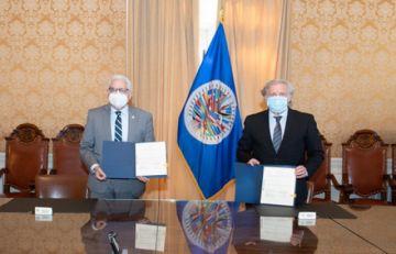 OEA y Bolivia firman acuerdo para observar elección del 18 de octubre