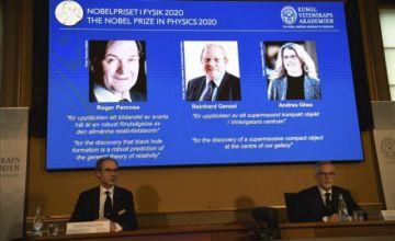"""Nobel de Física premia a tres expertos de los """"agujeros negros"""""""