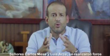 """Camacho desafía a Mesa y Arce a un """"debate de verdad"""""""