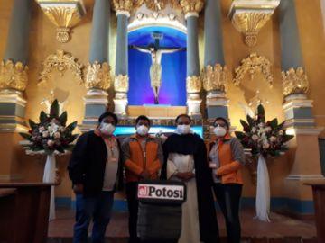 Ecofuturo entrega iluminación de la capilla de Santa Rosa