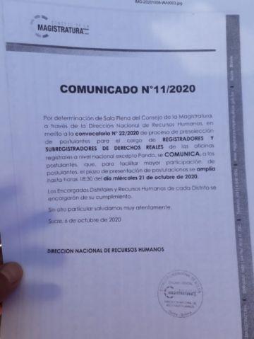 Amplían hasta el 21 de octubre convocatoria para Derechos Reales