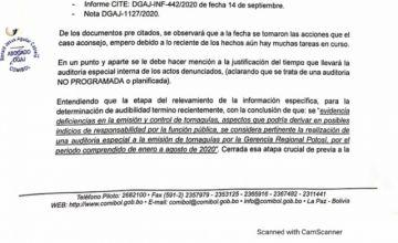 """La Comibol identifica """"deficiencias"""" en la emisión de tornaguías"""