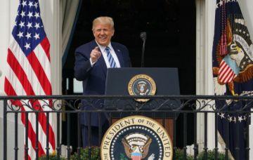 """Trump asegura ser """"inmune"""" al covid-19 y se muestra listo para combate electoral"""
