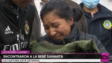 La bebé Samanta ya se reencontró con sus padres, hay una mujer aprehendida