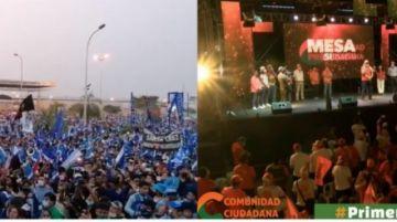 Comunidad Ciudadana y el MAS cerraron sus campañas en Santa Cruz