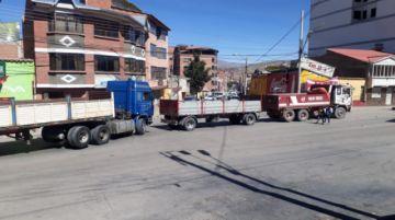 Así está el bloqueo este martes en las calles de la zona baja