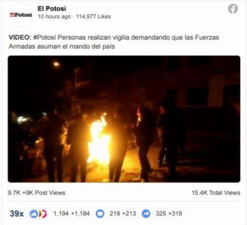 Video de la vigilia en el cuartel está entre los más vistos de Facebook