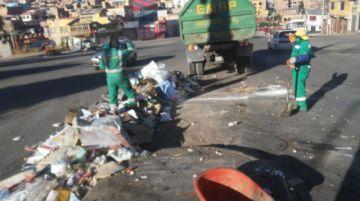 EMAP realiza la limpieza de la ciudad desde las 6:00