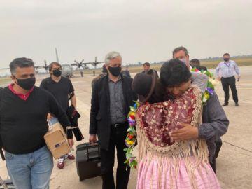 Evo Morales aterriza en Jujuy  antes de ingresar a Bolivia