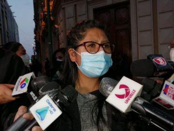 Vea lo que dijo Eva Copa tras la liberación de procesos a exministros del MAS