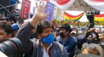 Retorno de Evo Morales une a sus simpatizantes