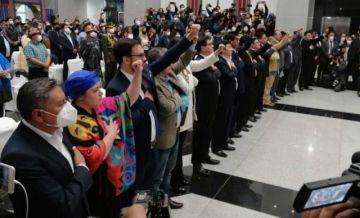Luis Arce posesiona a su Gabinete con 16 ministros
