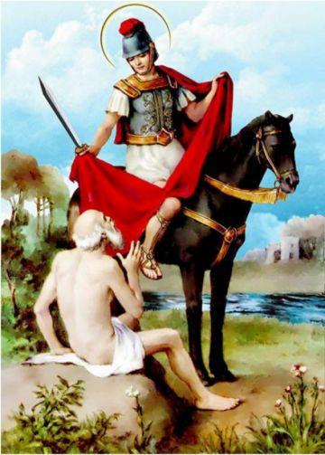 Hoy se recuerda a San Martín de Tours