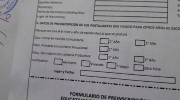 Vea qué datos llenar en el formulario de preinscripción