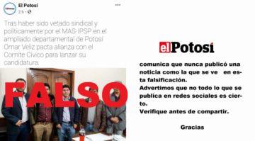 Usan imagen de El Potosí para difundir una falsedad