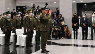 Coronel Jhonny Aguilera asume como Comandante de la Policía