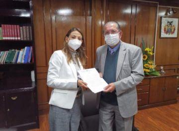 Nueva representante de la OPS/OMS en Bolivia presenta cartas credenciales