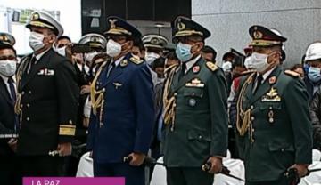 Luis Arce posesiona Mando Militar y le pide trabajar por la unidad