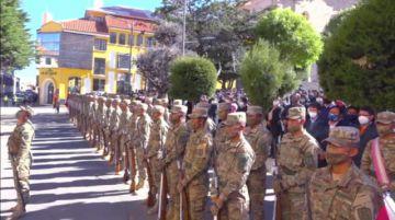 Así fue el homenaje a los 175 años del Himno Nacional en Potosí