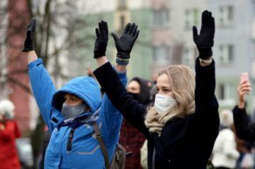 Reportan varias detenciones tras una nueva manifestación de la oposición en Bielorrusia