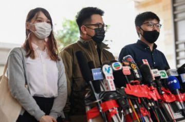 Activista de Hong Kong Joshua Wong detenido tras declararse culpable en juicio