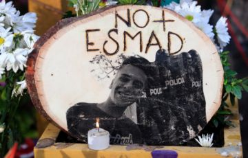 Rinden homenaje en Bogotá a joven que murió a manos de policía en protestas de 2019