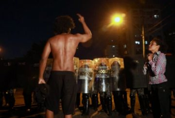 Manifestación en Brasil concluye con choques con policías