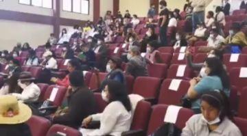Casimira Lema y Yareth García fueron acosadas en la sesión del grupo de la CIDH