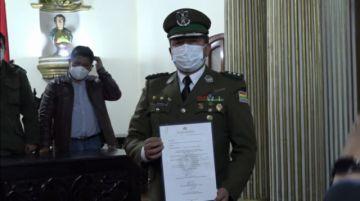 Juan Carlos Alarcón fue posesionado como nuevo comandante de Policía en Potosí