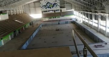 La piscina olímpica está paralizada por incumplimiento de pagos
