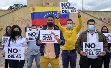 Venezolanos protestan en Colombia contra las cuestionadas elecciones de su país
