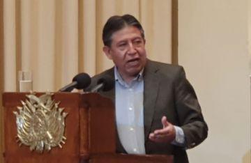 """Choquehuanca: """"A nadie se le tiene que perseguir por decir sus ideas"""""""
